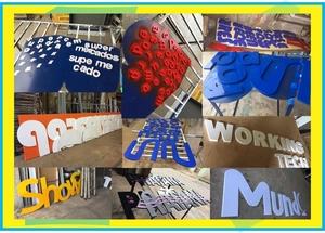 Letras Recortadas em PVC m2