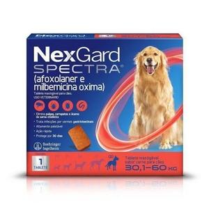Antipulgas e Carrapatos Nex Gard Spectra para Cães de 30,1 a 60kg