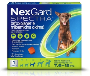 Antipulgas e Carrapatos Nex Gard Spectra para Cães de 7,5 a 15kg