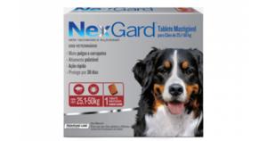 Antipulgas e Carrapatos NexGard para Cães de 25,1 a 50kg