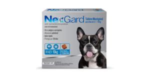 Antipulgas e Carrapatos NexGard para Cães de 4,1 a 10kg