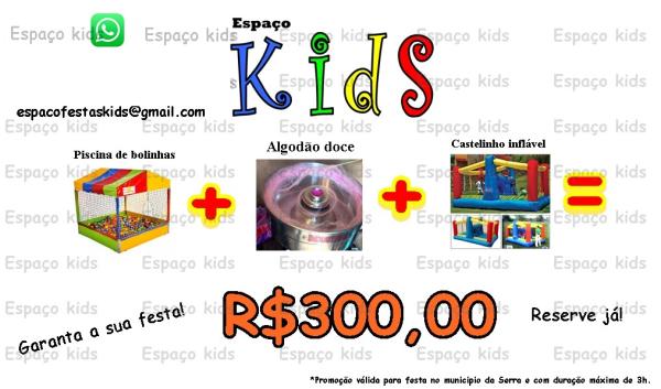 Aluguel de Piscina de Bolinhas + Algodão Doce + Castelinho Inflável