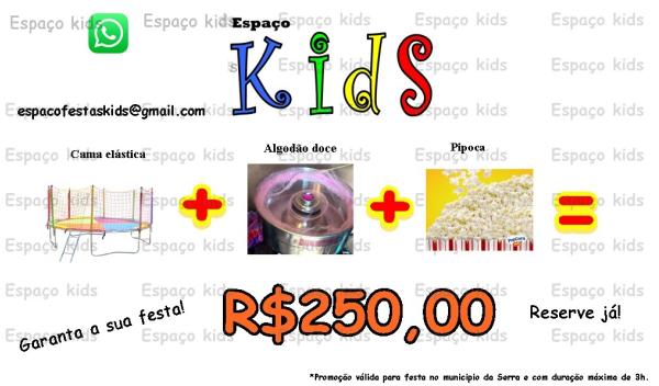 Aluguel de Pula Pula + Algodão Doce + Pipoca
